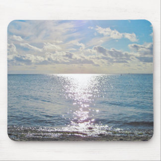 Sky and ocean photo mouse pad