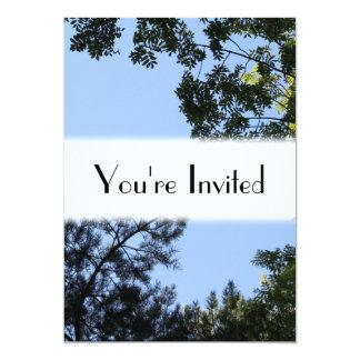 Sky and Tree Tops. 13 Cm X 18 Cm Invitation Card