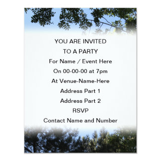 Sky and Tree Tops. 11 Cm X 14 Cm Invitation Card