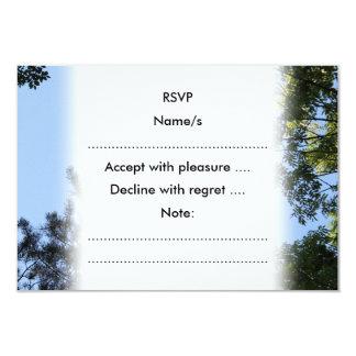 Sky and Tree Tops. 9 Cm X 13 Cm Invitation Card
