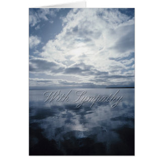 Sky and Water Condolence Card