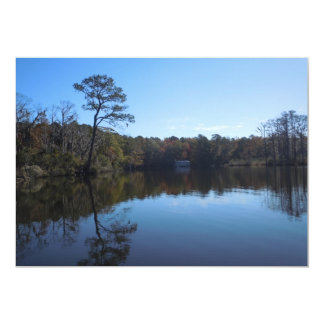 Sky and Water Reflections - Beaufort County NC 13 Cm X 18 Cm Invitation Card