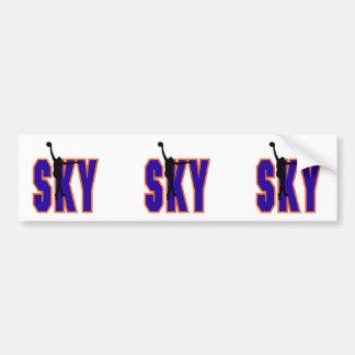 sky basketball text design bumper sticker