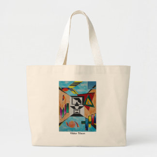 """Sky Behind"" A design by Viktor Tilson Large Tote Bag"