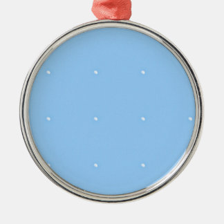 Sky Blue1 Silver-Colored Round Decoration