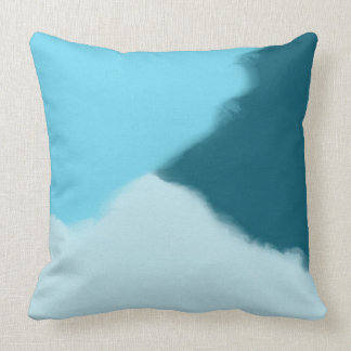 Sky Blue Abstract Decorative Throw Pillow