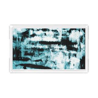 Sky Blue Abstraction Design Acrylic Tray