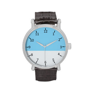 Sky Blue and Pale Silver Wristwatches