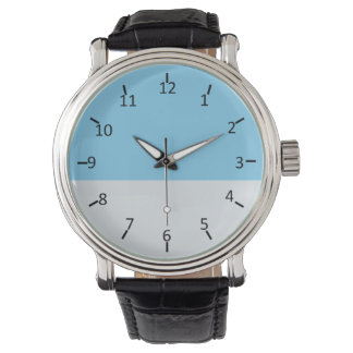 Sky Blue and Pale Silver Wristwatch