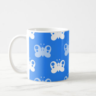 Sky Blue and White Butterflies Butterfly Coffee Mug