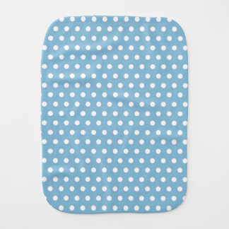 Sky Blue and White Polka Dots Burp Cloth