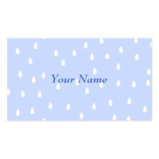 Sky blue and white rain drop pattern. business card