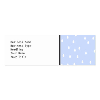 Sky blue and white rain drop pattern business card