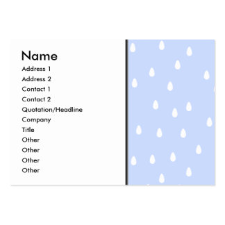 Sky blue and white rain drop pattern business cards