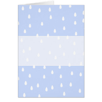 Sky blue and white rain drop pattern. greeting card