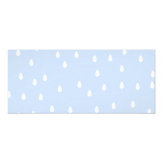 Sky blue and white rain drop pattern. custom announcements