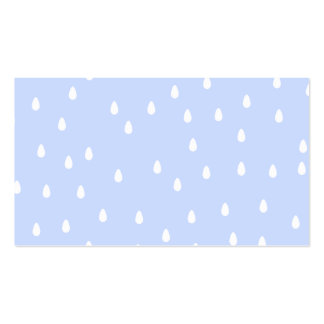 Sky blue and white rain drop pattern. pack of standard business cards