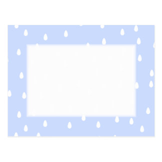 Sky blue and white rain drop pattern. post card