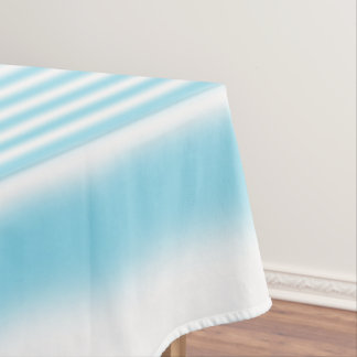 Sky Blue and White Stripes Tablecloth