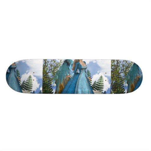 Sky Blue Angel Custom Skate Board