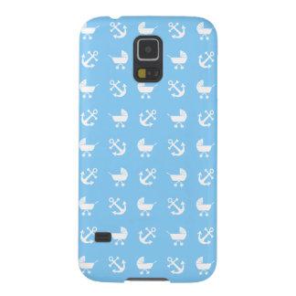 Sky blue baby boy nautical pattern case for galaxy s5
