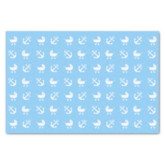 Sky blue baby boy nautical pattern tissue paper