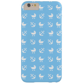 Sky blue baby boy nautical patterns barely there iPhone 6 plus case