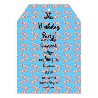 "Sky blue bacon pattern 5"" x 7"" invitation card"