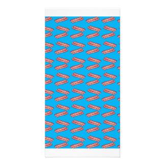Sky blue bacon pattern photo cards