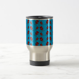 sky blue barbeque pattern coffee mugs