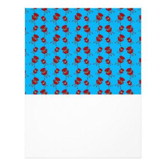 sky blue barbeque pattern flyer design