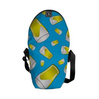 Sky blue beer pattern courier bag