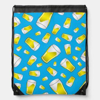 Sky blue beer pattern backpacks