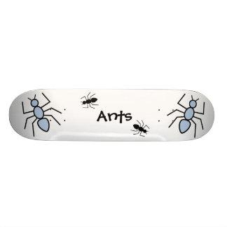 Sky Blue & Black Vector Ants Skateboard Decks
