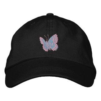 Sky Blue Butterfly Emboirdered Cap Baseball Cap