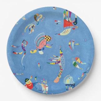 Sky Blue by Wassily Kandinsky Paper Plate