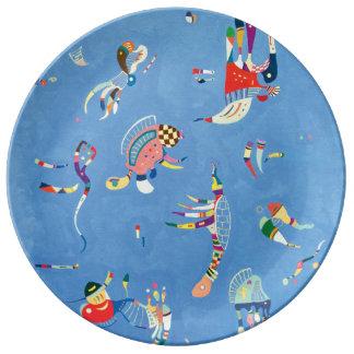 Sky Blue by Wassily Kandinsky Porcelain Plates