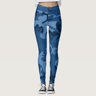 SKY BLUE CAMOUFLAGE LEGGINGS