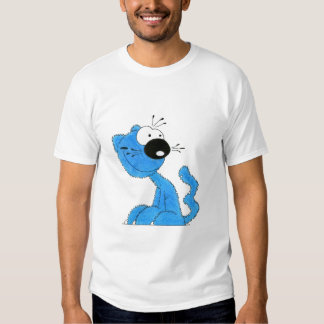 sky blue cat t shirt