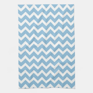 Sky Blue Chevron Tea Towel