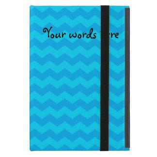 Sky blue chevrons iPad mini cover