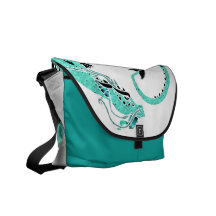 Sky Blue Coiled Dragon Commuter Bags