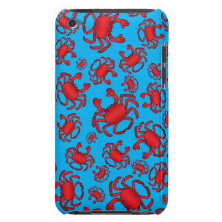 Sky blue crab pattern barely there iPod covers