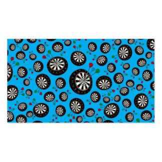 Sky blue dartboard pattern pack of standard business cards