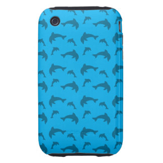Sky blue dolphin pattern iPhone 3 tough covers