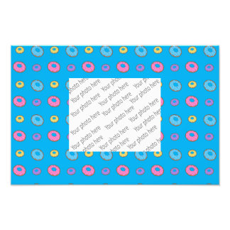 Sky blue donut pattern photographic print