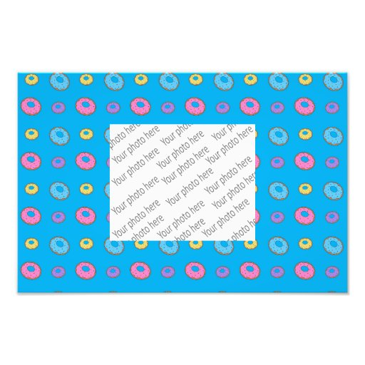 Sky blue donut pattern photographic print
