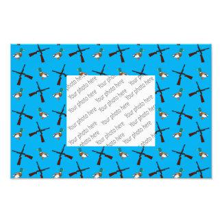 Sky blue duck hunting pattern photo print