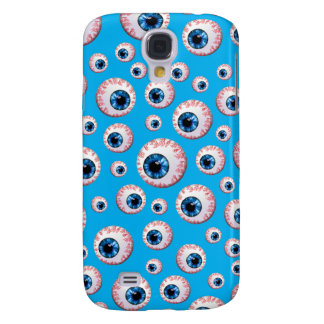Sky blue eyeball pattern galaxy s4 case