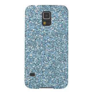 Sky Blue Faux Glitter Case For Galaxy S5
